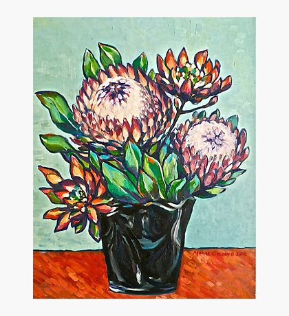 Proteas. Oil on linen 56x44cm  2012 Photographic Print