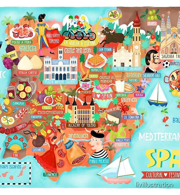 Map of Spain by livillustration