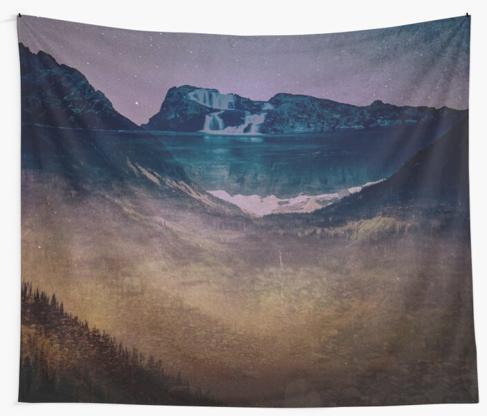Mountains Forest Waterfall - Dreamtime Fog Adventure by artcascadia