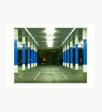 blue poles # 1 Art Print
