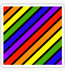 ROYGBIV.... Diagonal stripe Sticker