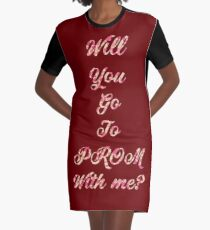 PROM Proposal Graphic T-Shirt Dress