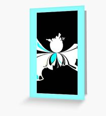 Microcosm abstract sci-fi black white blue landscape night Greeting Card