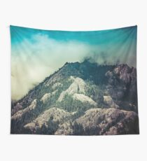 Mountains and Forest - Cloudy Mountain Ridge Wall Tapestry