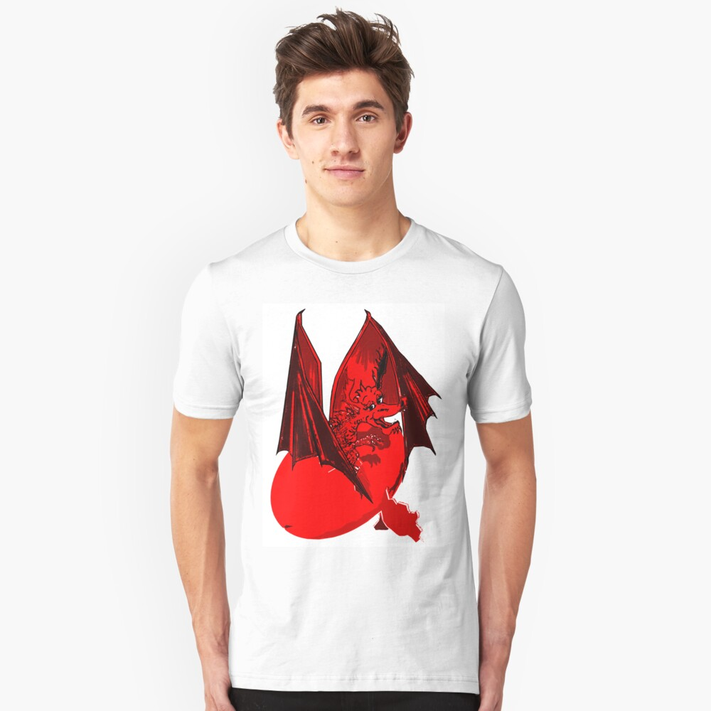 Red Lizard of Flames Unisex T-Shirt Front