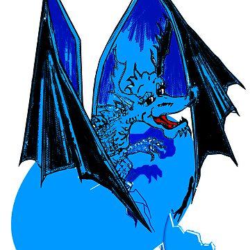 Blue Lizard of Flames by Rayjun