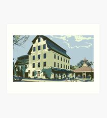 Woolen Mill & Pagoda - Cedarburg WI (muted) Art Print