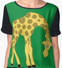 Giraffe Women's Chiffon Top