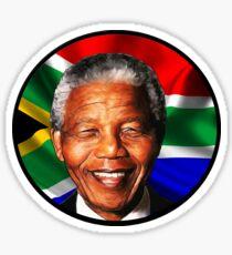 Painted Nelson Mandela Sticker