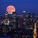 Montreal super moon by MIRCEA COSTINA