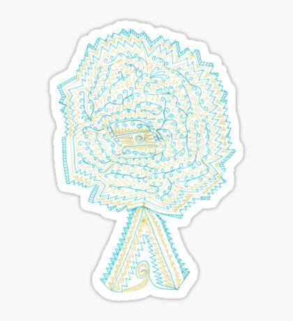 Azure & Gold Tree Sticker