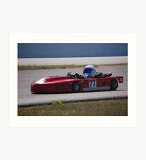 Lay-Down Racer 1 Art Print