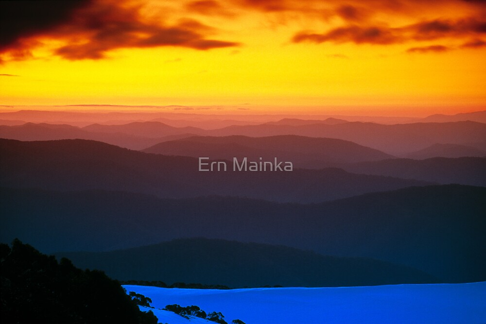 Mountain Sunset by Ern Mainka