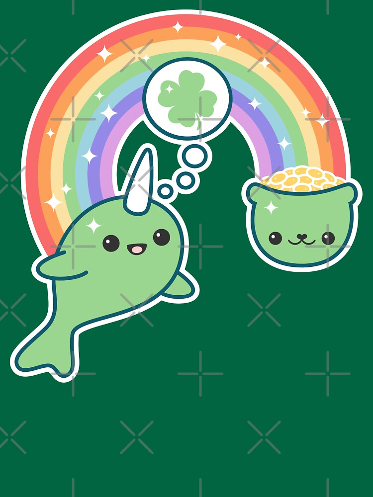 St Patrick's Day Lucky Narwhal by sugarhai