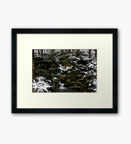 Snowy Appalachian Creek Framed Print