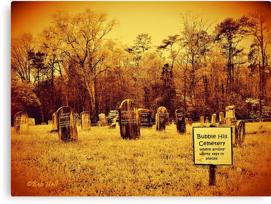 """Bubble Hill Cemetery""... prints and products by © Bob Hall"