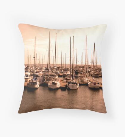 Waiting To Sail Throw Pillow