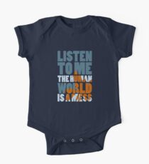 The world is a mess Short Sleeve Baby One-Piece