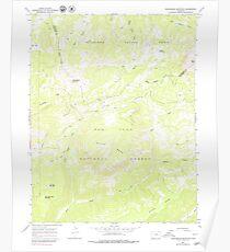 USGS TOPO Map Colorado CO Groundhog Mountain 233174 1964 24000 Poster