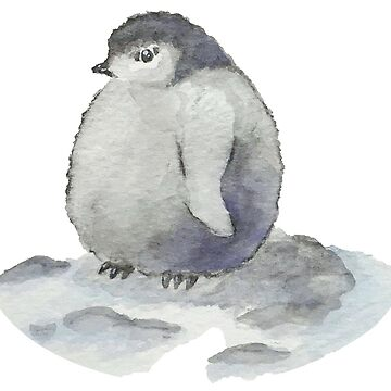 Chubby Penguin - Watercolors by ColaChu