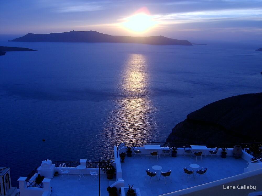 Santorini Sunset, Greece by Lana Callaby