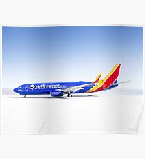Boeing Southwest Airlines Poster