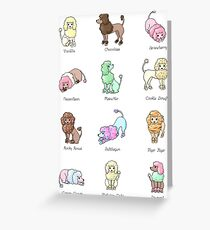 Poodle Ice Cream Greeting Card