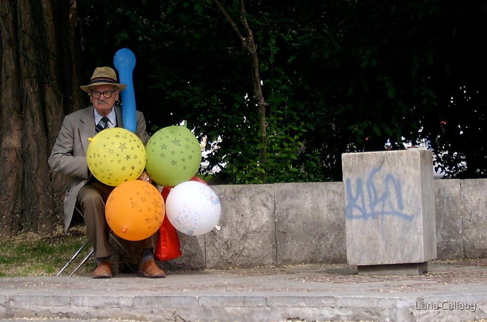 Man with Balloons by Lana Callaby
