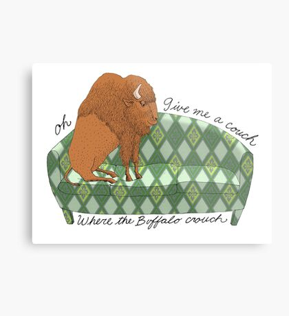 Buffalo on Couch nap time Metal Print