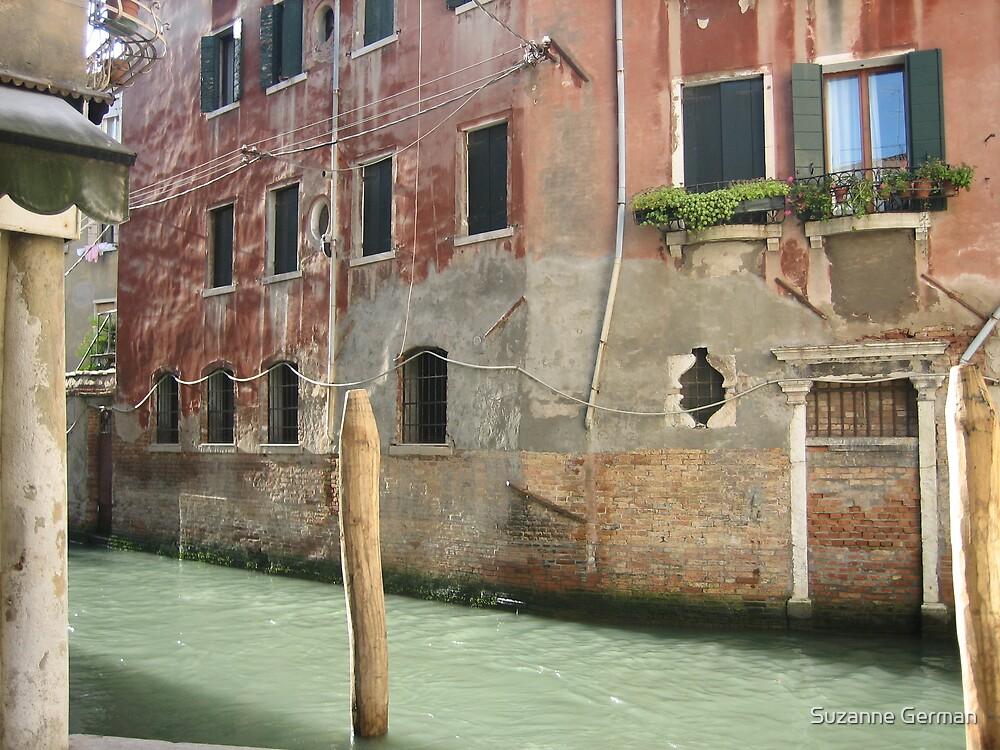 gondola post - venice by Suzanne German