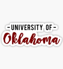 University of Oklahoma Sticker