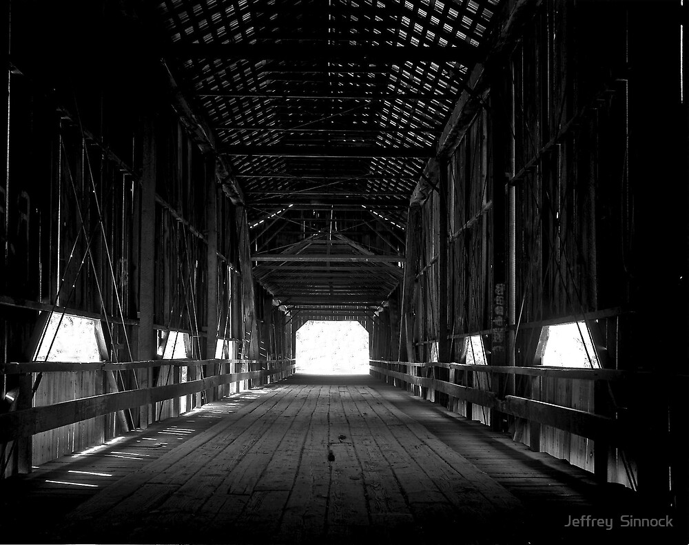 Old covered bridge in Chico California by Jeffrey  Sinnock