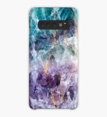 Turquoise & Purple Quartz Crystal Case/Skin for Samsung Galaxy