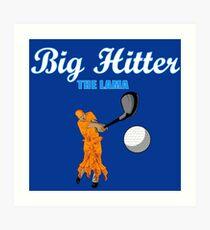 big hitter Llama - caddyshack Art Print