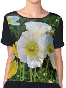 White Floriade Flowers Chiffon Top