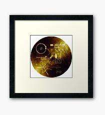 Voyager 1 Goldene Schallplatte Gerahmtes Wandbild