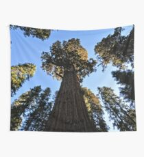 General Sherman Redwood Tree in Sequoia National Park in California Travel Trees Wall Tapestry