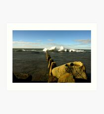 Coaldail beach Art Print