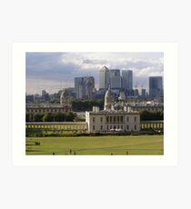 Old Meets New - Greenwich Art Print
