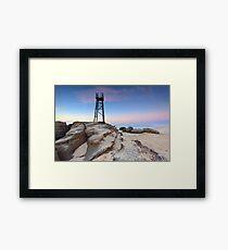 Shark Tower and jagged rocks Framed Print