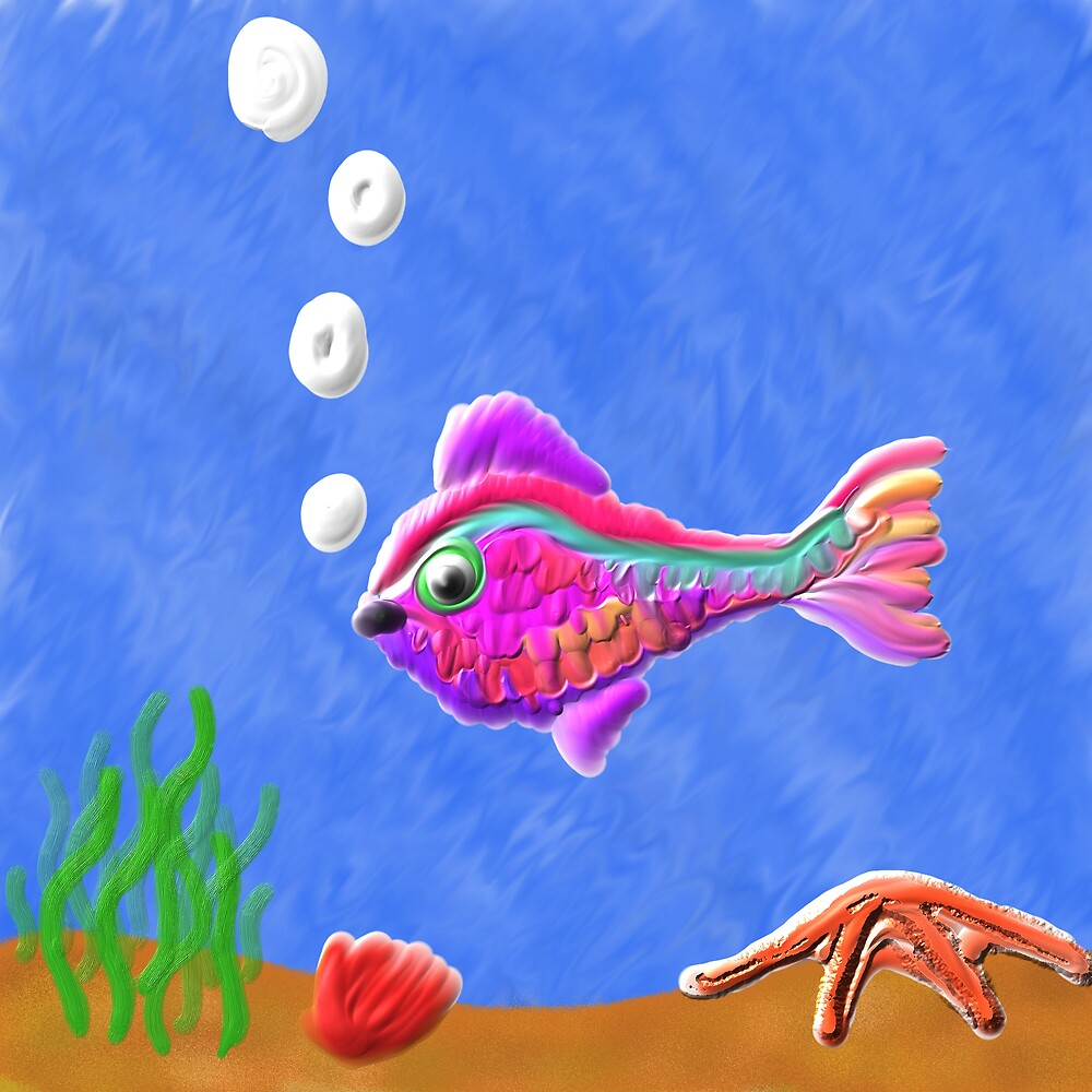 Purple fish by psyme