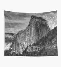 Half Dome in Yosemite National Park in California USA TRAVEL Love Wall Tapestry Nature Sky Black Wall Tapestry