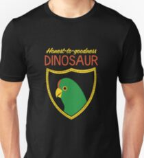 Honest-To-Goodness Dinosaur: Parakeet (on dark background) Unisex T-Shirt