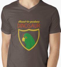 Honest-To-Goodness Dinosaur: Parakeet (on dark background) Men's V-Neck T-Shirt