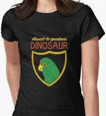 Honest-To-Goodness Dinosaur: Parakeet (on dark background) Women's Fitted T-Shirt