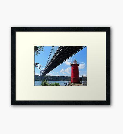Little Red Lighthouse Framed Print
