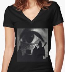 Sixties Psychedelic Rock Women's Fitted V-Neck T-Shirt