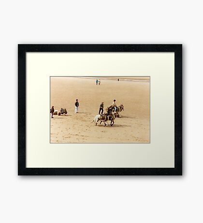 Blackpool's Donkeys Framed Print