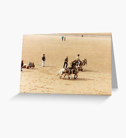 Blackpool's Donkeys Greeting Card
