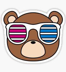 Kanye Shutter Shades Bear Sticker